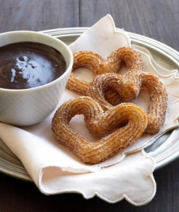 churros con chocolate boda