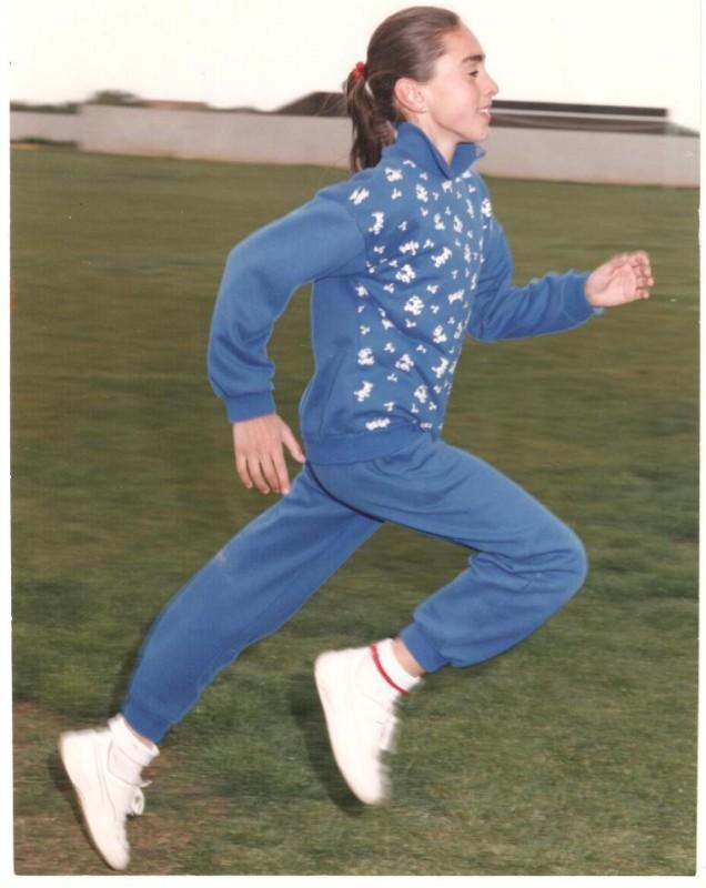 Dori Garcia en sus inicios atléticos