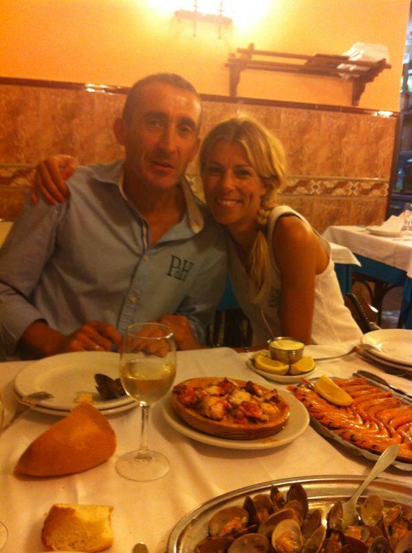 Fernando Bas (el pápa) y Eva Arias