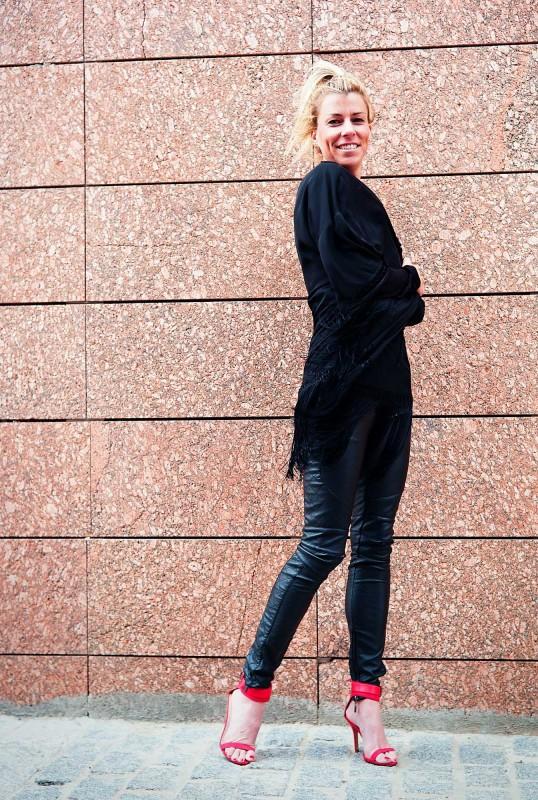 Pantalones negros de cuero!