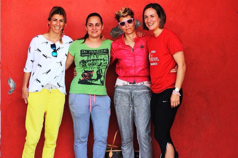Mire, Mony, Myla y Eva Arias