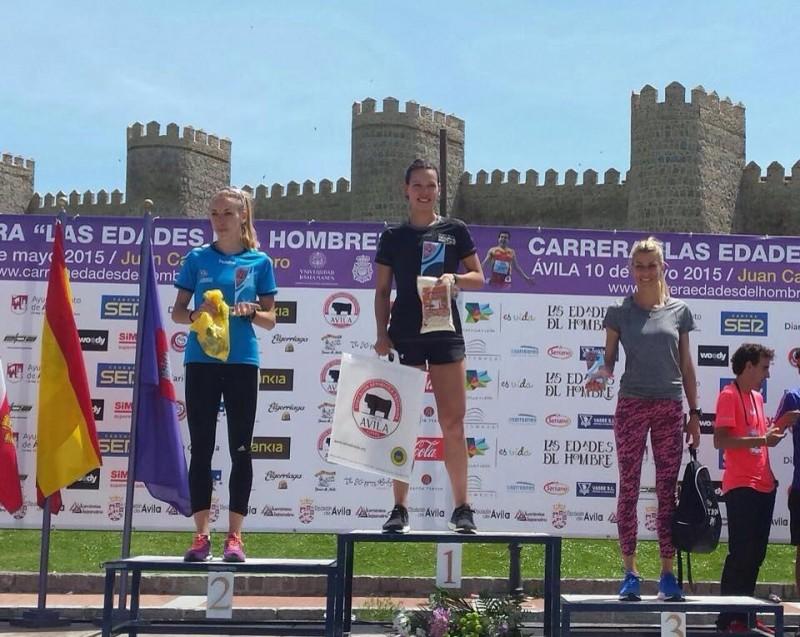 Podium femenino 5000mtrs.