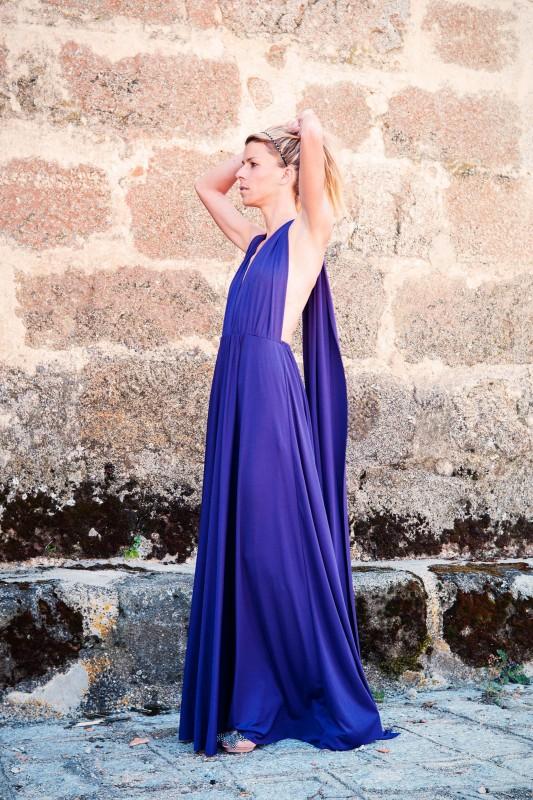 Vestido largo-lila