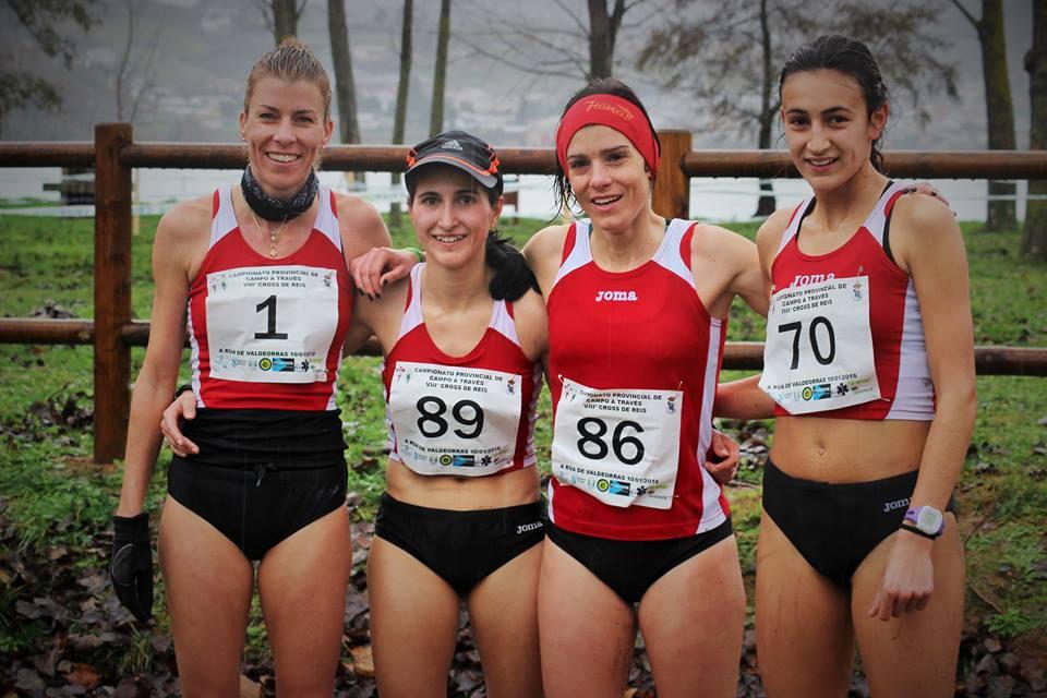 Parte del equipo femenino de cross adas Proinor